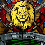 stained glass of lion